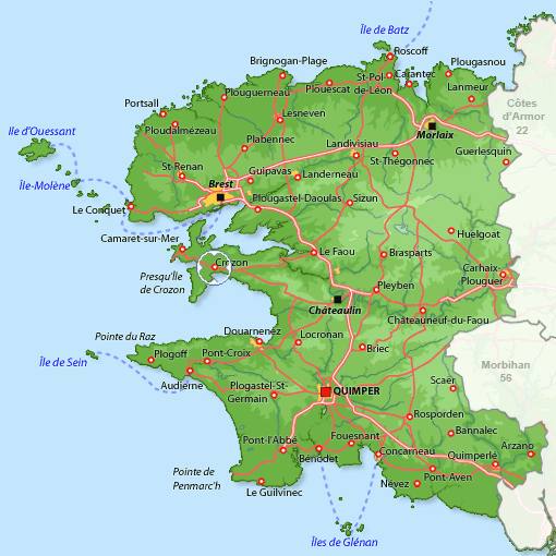 crozon carte de france - Image